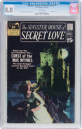 Bronze Age (1970-1979):Romance, Sinister House of Secret Love #1 (DC, 1971) CGC VF 8.0 Whitepages....
