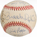 Autographs:Baseballs, Baseball Greats Multi-Signed Baseball (18 Signatures)....