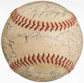 Autographs:Baseballs, 1953 New York Yankees Team Signed Baseball (27 Signatures)....
