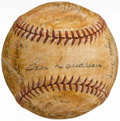 Autographs:Baseballs, 1944 Cleveland Indians Team Signed Baseball (22 Signatures)....