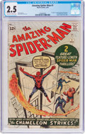 Silver Age (1956-1969):Superhero, The Amazing Spider-Man #1 (Marvel, 1963) CGC GD+ 2.5 Off-white towhite pages....