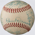 Autographs:Baseballs, 1952 Brooklyn Dodgers Team Signed Baseball (23 Signatures)....