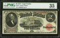 Large Size:Legal Tender Notes, Serial A600008A Fr. 57 $2 1917 Legal Tender PMG Choice Very Fine35.. ...