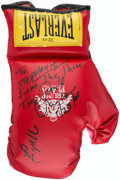 Boxing Collectibles:Autographs, 1980 Muhammad Ali Signed Trump Plaza Everlast Boxing Glove....