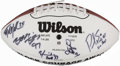 Football Collectibles:Balls, 2005 Ed Block Courage Awards Multi-Signed Football....