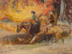 Robert E. Lougheed (American, 1910-1982) Riders in Autumn Oil on canvas laid on board 24-1/2 x 33 inches (62.2 x 83.8