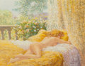 Paintings, Louis Fabian (American, 20th Century). La Chambre Doree. Oil on canvas. 16 x 19 inches (40.6 x 48.3 cm). Signed lower ri...