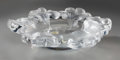 Art Glass:Lalique, A Lalique Clear and Frosted Glass Honfleur Bowl, post-1945. Marks: Lalique, France. 2-3/4 inches high x 12 i...