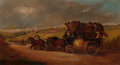 Fine Art - Painting, European:Antique  (Pre 1900), John Charles Maggs (British, 1819-1896). Stage Coach, 1878.Oil on canvas. 14 x 26 inches (35.6 x 66.0 cm). Signed, date...