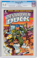 Modern Age (1980-Present):Humor, Destroyer Duck #1 (Eclipse, 1982) CGC VF/NM 9.0 White pages....