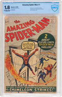 The Amazing Spider-Man #1 (Marvel, 1963) CBCS GD- 1.8 Off-white to white pages