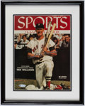 "Autographs:Others, Ted Williams Signed ""Sports Illustrated"" Magazine Display - UDA...."