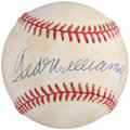 Autographs:Baseballs, Ted Williams Single Signed Baseball - UDA. ...