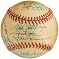 Baseball Collectibles:Balls, 1973 New York Yankees Team Signed Baseball. ...
