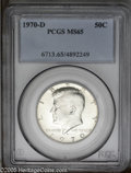 Kennedy Half Dollars: , 1970-D 50C MS65 PCGS. PCGS Population (719/182). NGC Census:(198/36). Mintage: 2,150,000. Numismedia Wsl. Price: $34....