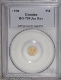 California Fractional Gold: , 1870 25C Liberty Octagonal 25 Cents, BG-759, R.4, NG PCGS. ...