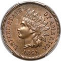 Indian Cents, 1871 1C MS66 Brown PCGS. CAC....