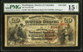 National Bank Notes:District of Columbia, Washington, DC - $20 1882 Brown Back Fr. 499 The Second NB Ch. # 2038. ...