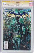 Modern Age (1980-Present):Superhero, Batman #1 Variant Cover - Signature Series (DC, 2011) CGC NM+ 9.6White pages....
