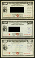 Miscellaneous:Other, $25 War Savings Bond Series E Issued Jan. 1944-45 Schwan 232b ThreeExamples.. ... (Total: 3 items)