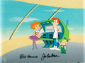 Animation Art:Production Cel, The Jetsons Meet the Flintstones Jetson Family ProductionCel Setup and Master Production Background (Hanna-Barbera, 1...