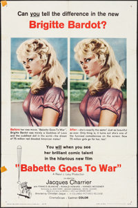 """Babette Goes to War (Columbia, 1960). One Sheet (27"""" X 41"""") & Pressbook (8 Pages, 8.5"""" X 12""""). F..."""