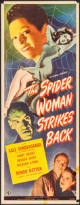 """Movie Posters:Horror, The Spider Woman Strikes Back (Universal, 1946). Insert (14"""" X 36""""). Horror.. ..."""