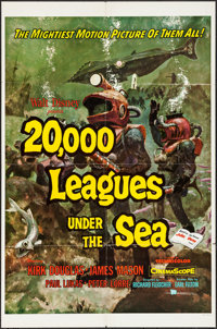 """20,000 Leagues Under the Sea (Buena Vista, 1954). One Sheet (27"""" X 41"""") Style A. Science Fiction"""