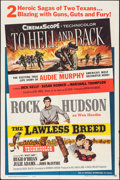 """Movie Posters:War, To Hell and Back/The Lawless Breed Combo (Universal International,R-1960). One Sheet (27"""" X 41""""). War.. ..."""