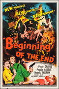 """Movie Posters:Science Fiction, Beginning of the End (Republic, 1957). One Sheet (27"""" X 41""""). Science Fiction.. ..."""