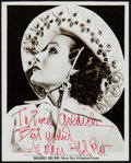 "Movie Posters:Miscellaneous, Dolores Del Rio (Warner Brothers, 1930s). Autographed Portrait Photo (8"" X 10""). Miscellaneous.. ..."