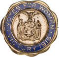Political:Pinback Buttons (1896-present), Woman's Suffrage: New York State Brass and Enamel Brooch....