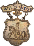 "Western Expansion:Cowboy, An Important ""Wild West"" Badge, Inscribed to Johnny Baker's WifeDella Farrell from ""Cody & (Nate) Salsbery"". ..."