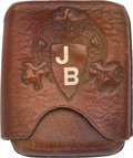 Western Expansion:Cowboy, Johnny Baker's Personal Cigarette Case. ...