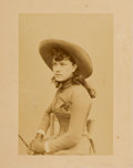 Western Expansion:Cowboy, [Johnny Baker]. Photographs (3) of Della Farrell....