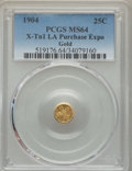 Expositions and Fairs, 1904 25C Louisiana Purchase Expo Gold, MS64 PCGS. X-Tn1. ...
