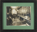 Photography:Cabinet Photos, Evocative P. E. Larson Gambling Hall Silver Print Photograph. ...