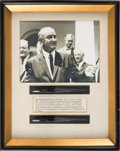 Political:Presidential Relics, Lyndon B. Johnson: Pair of Bill Signing Pens Including One For HR 6675 or Medicare. ...