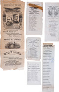 Political:Small Paper (pre-1896), Six Assorted 19th Century Electoral Tickets.... (Total: 6 Items)