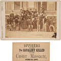 Western Expansion:Buffalo Soldiers, Custer and His Staff: A Rare Original Cabinet Photo Taken at FortAbraham Lincoln....