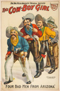 "Western Expansion:Cowboy, ""Four Bad Men from Arizona"" Theatrical Poster...."
