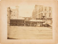 "Transportation:Railroad, Transportation: Large Albumen of ""Commodore Vanderbilt"" Locomotive...."