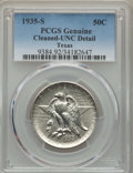 1935-S 50C Texas MS60 PCGS Genuine. NGC Census: (1/1356). PCGS Population: (3/2242). CDN: $115 Whsle. Bid for problem-fr...