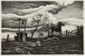Fine Art - Work on Paper:Print, Thomas Hart Benton (American, 1889-1975). Frisky Day, 1939.Lithograph. 7-3/4 x 12 inches (19.7 x 30.5 cm) (image). Ed. ...