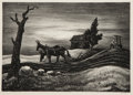 Fine Art - Work on Paper:Print, Thomas Hart Benton (American, 1889-1975). A Drink of Water,1937. Lithograph. 14-1/4 x 10 inches (36.2 x 25.4 cm) (image...