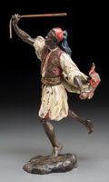 Decorative Arts, Continental:Other , A Bergman-Style Cold-Painted Bronze Figure: Camel Herder. 10-1/4 h x 6 w x 5-1/4 d inches (26.0 x 15.2 x 13.3 cm...