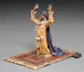 Decorative Arts, Continental:Other , A Bergman-Style Cold-Painted Bronze Figure: Evening Prayer.4 h x 4-1/4 w x 3-1/8 d inches (10.2 x 10.8 x 7.9 cm)...