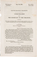 Books:Americana & American History, Completion of the First American Telegraph Line: OfficialGovernment Report....