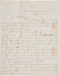 Political:Memorial (1800-present), Lincoln's Assassination: A Graphic April 15, 1865 Letter from a Soldier on the Scene in Washington. Three pages, wr...