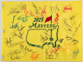 Golf Collectibles:Autographs, 2015 Signed Masters Golf Flag (27 Signatures) - Includes Spieth,McIlroy, & Dustin Johnson....